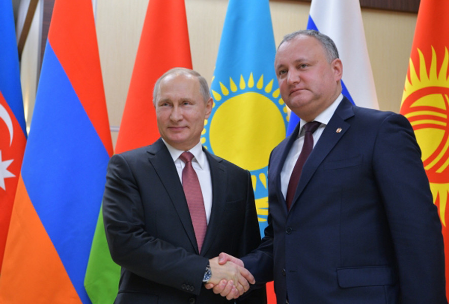 Президенты Российской Федерации иМолдавии обсудили двусторонние отношения