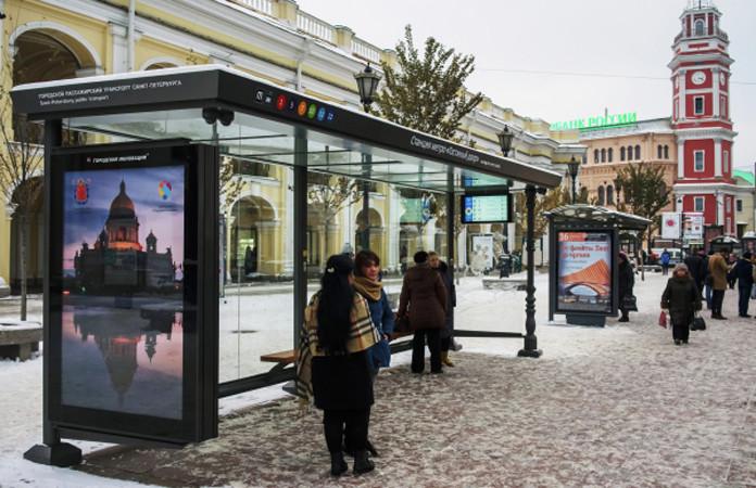 «Умную остановку» сбесплатным Wi-Fi открыли вцентре Новосибирска