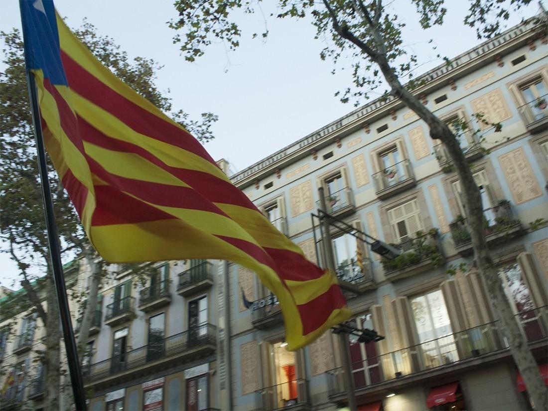 ВБрюсселе тысячи человек вышли намитинг вподдержку независимости Каталонии