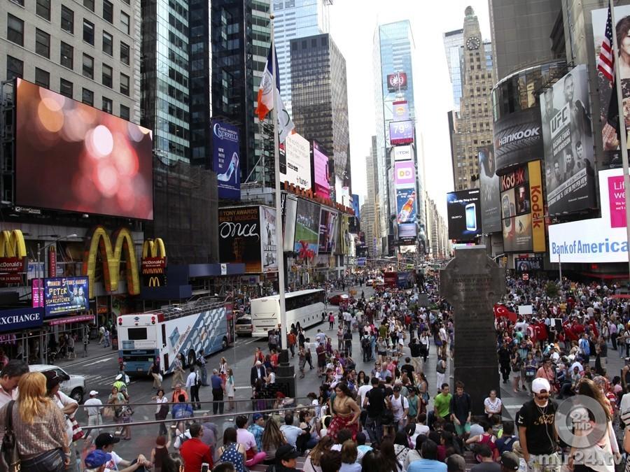 Спуск хрустального шара вНью-Йорке ознаменовал начало Нового года навостоке США