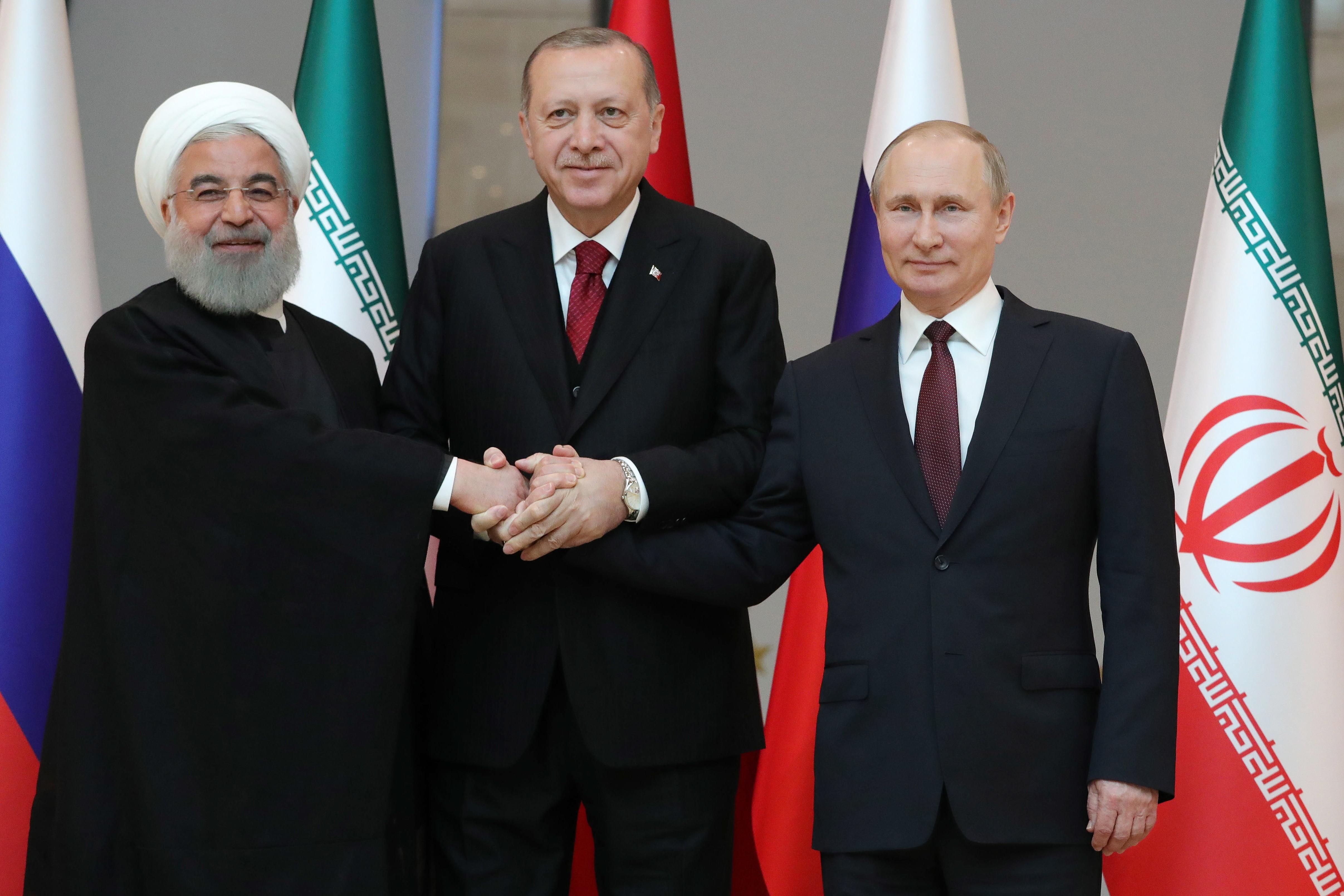 Путин: РФ, Турция иИран поддерживают территориальную целостность исуверенитет Сирии