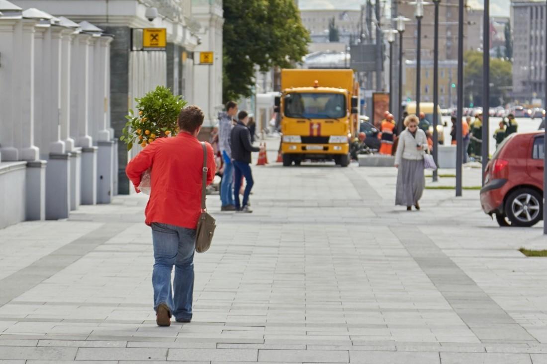 Новая пешеходная зона появилась вврайоне Лесной улицы