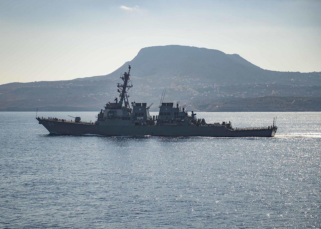 Боевой корабль США USS Carney вошел вЧерное море