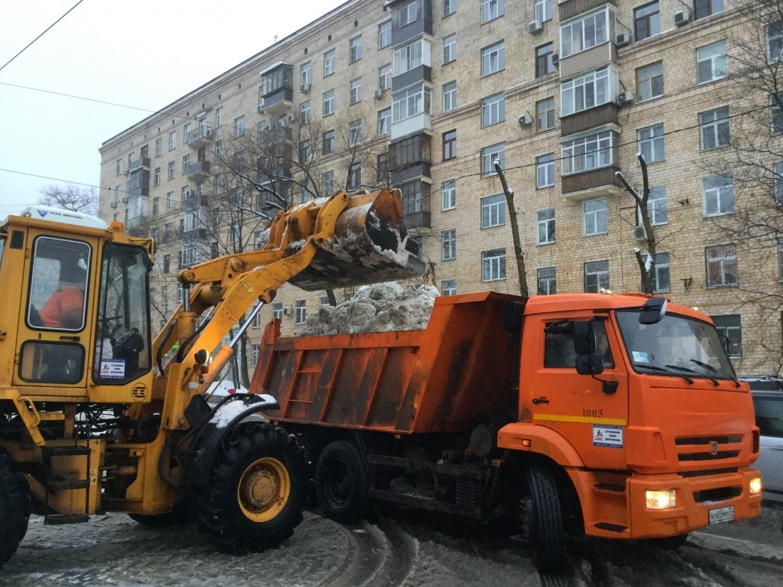 Ряд ответственных зауборку снега в столице России отстранены отдолжностей