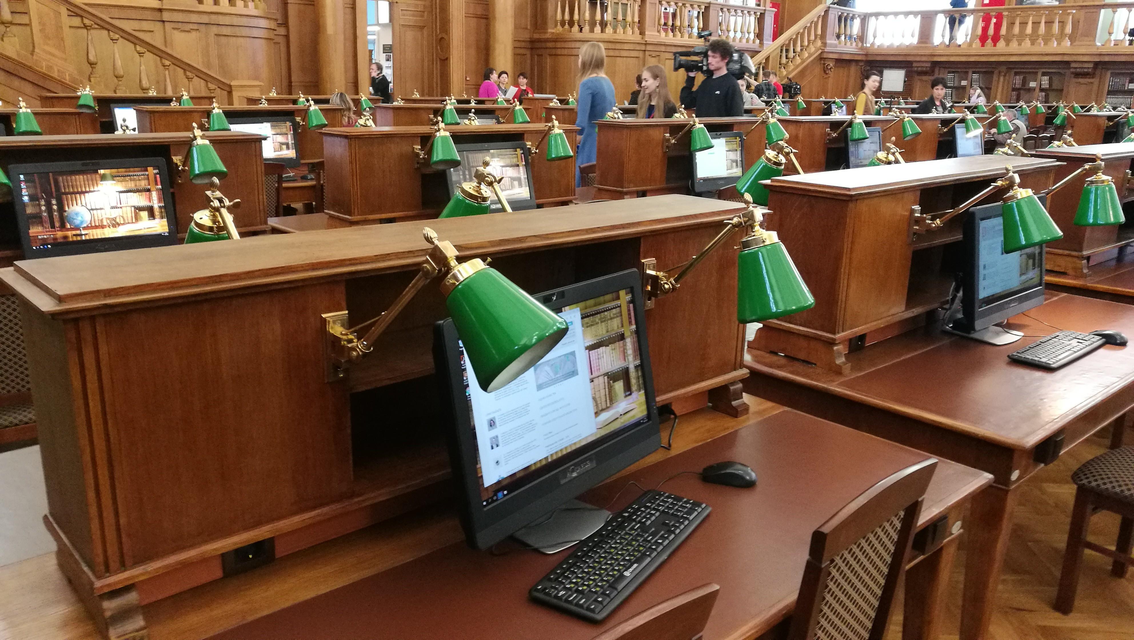 Главный читальный зал РГБ готов кприему гостей