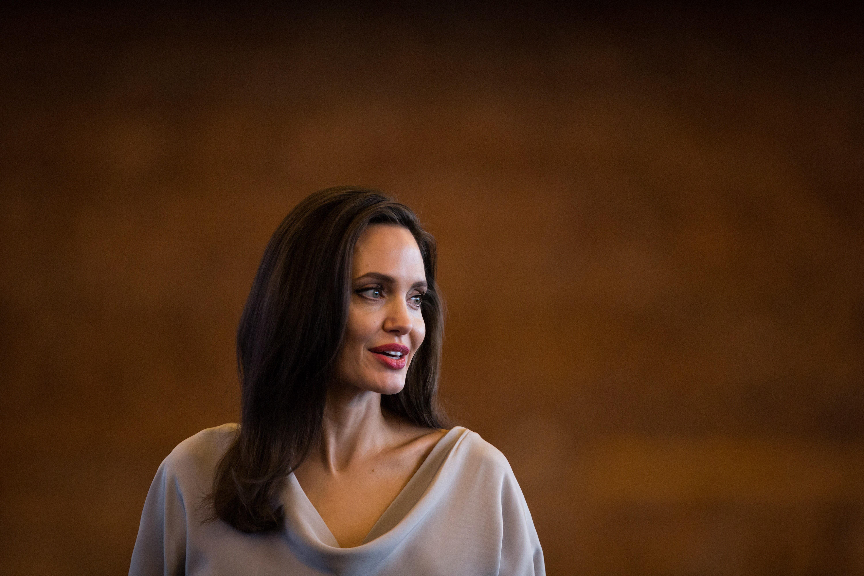 Анджелина Джоли посетила сдетьми лагерь для беженцев