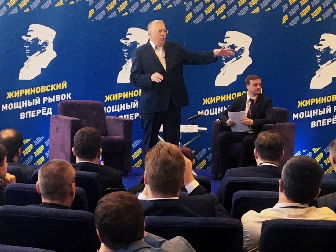 Жириновский за неделю потратил на предвыборную кампанию почти 20 млн рублей