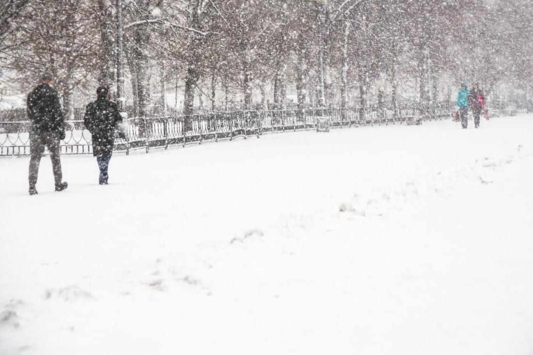 Из-за снегопада вЯпонии 430 пассажиров провели ночь впоезде