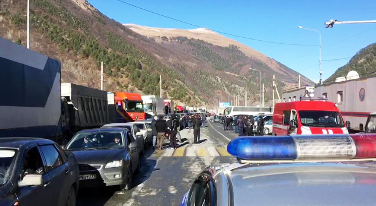 Ограничено движение поВоенно-Грузинской дороге