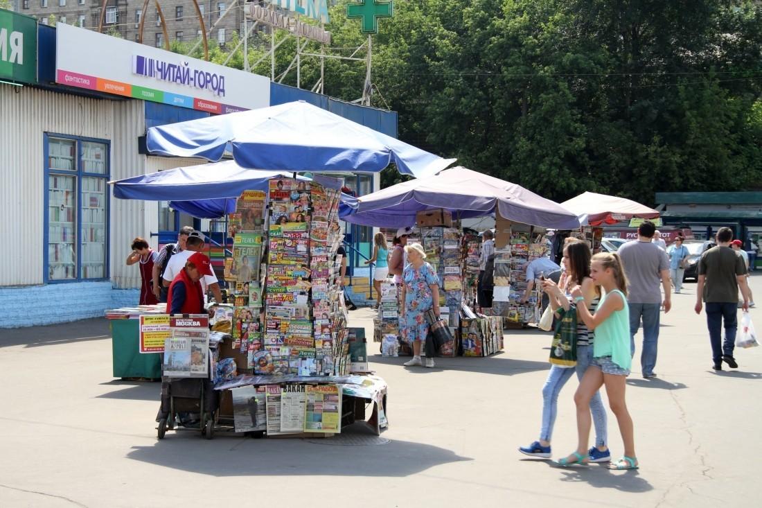 В столице России торговые палатки вновь «отодвинули» отметро