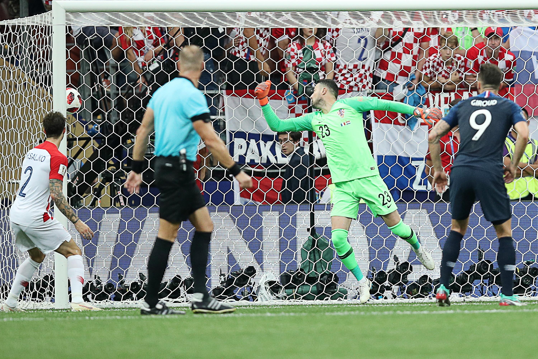 Гризманн спенальти вывел Францию вперед в заключительном матче против Хорватии