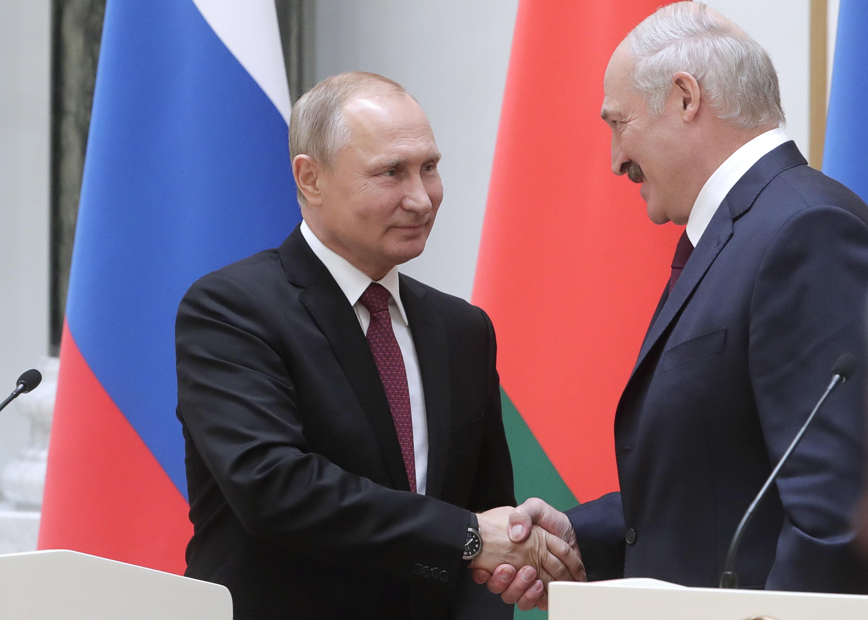 Путин иЛукашенко обсудили деятельность Евразийского финансового союза