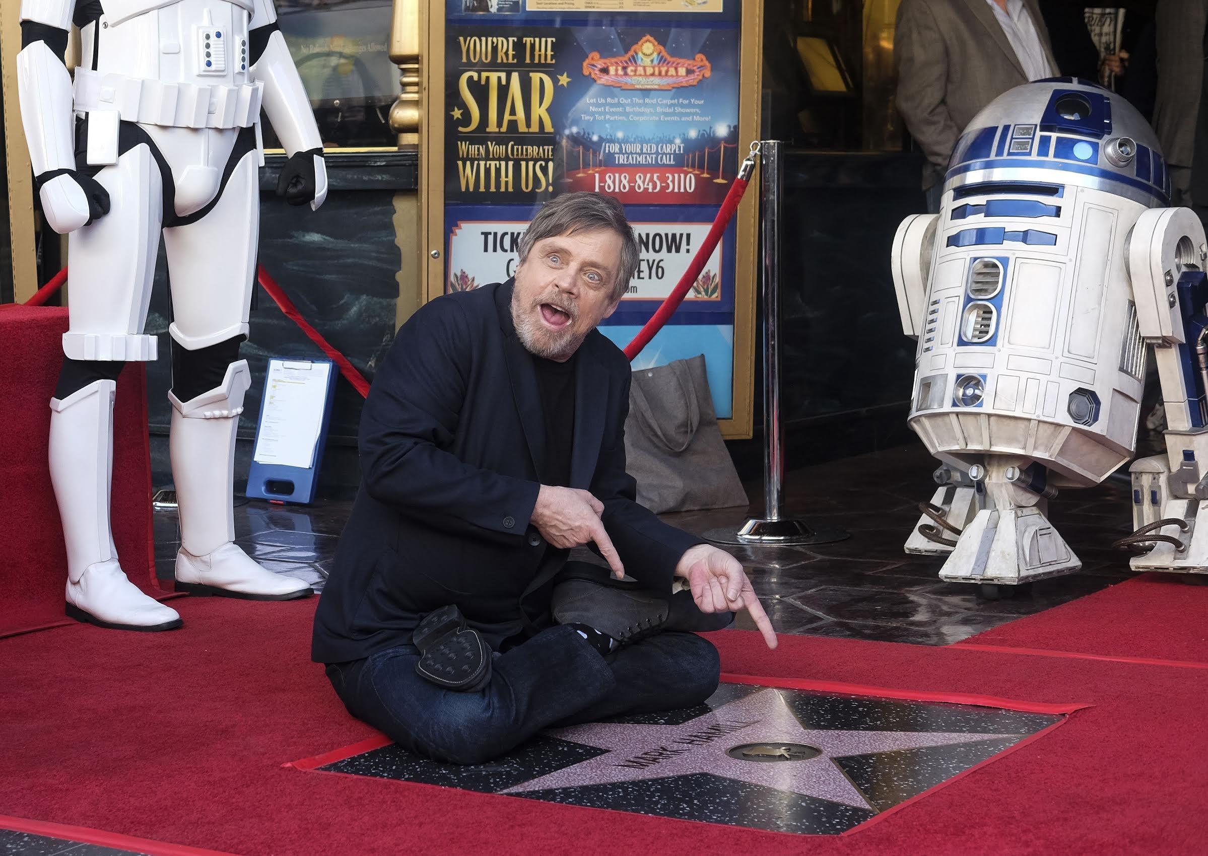 На Аллее славы появилась звезда Люка Скайуокера из Звездных войн