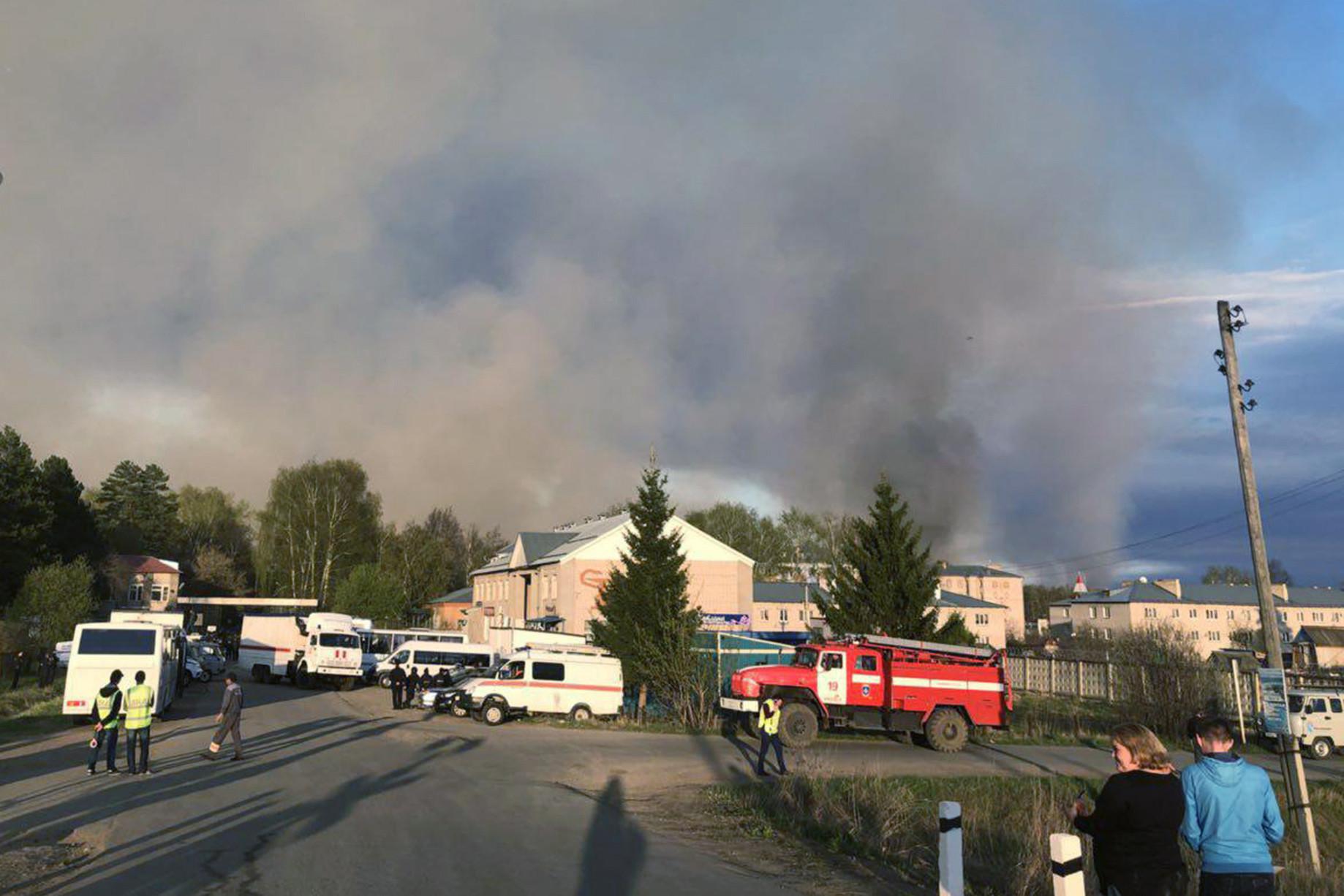 Руководитель Удмуртии выехал наместо взрыва боеприпасов вПугачеве