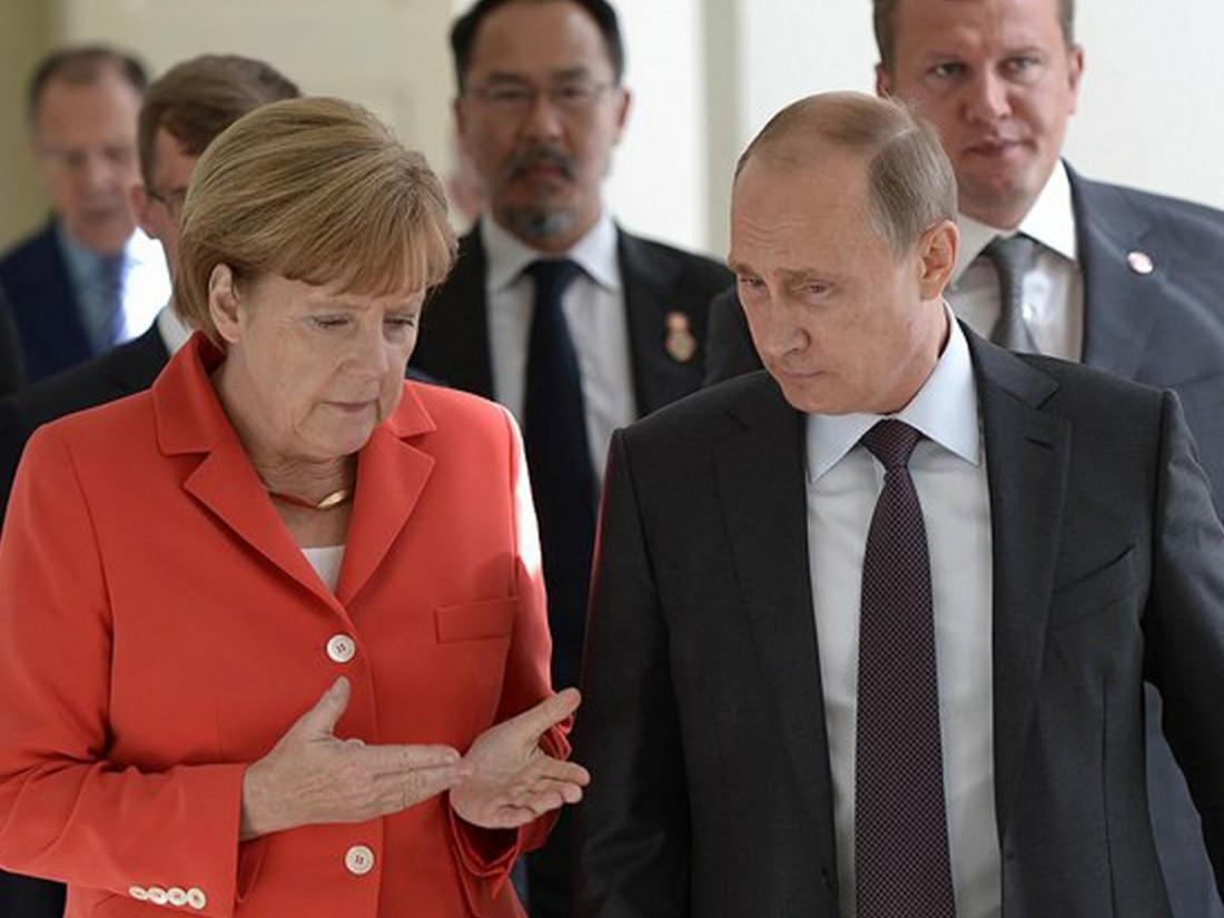 Путин встретится с Меркель в Германии