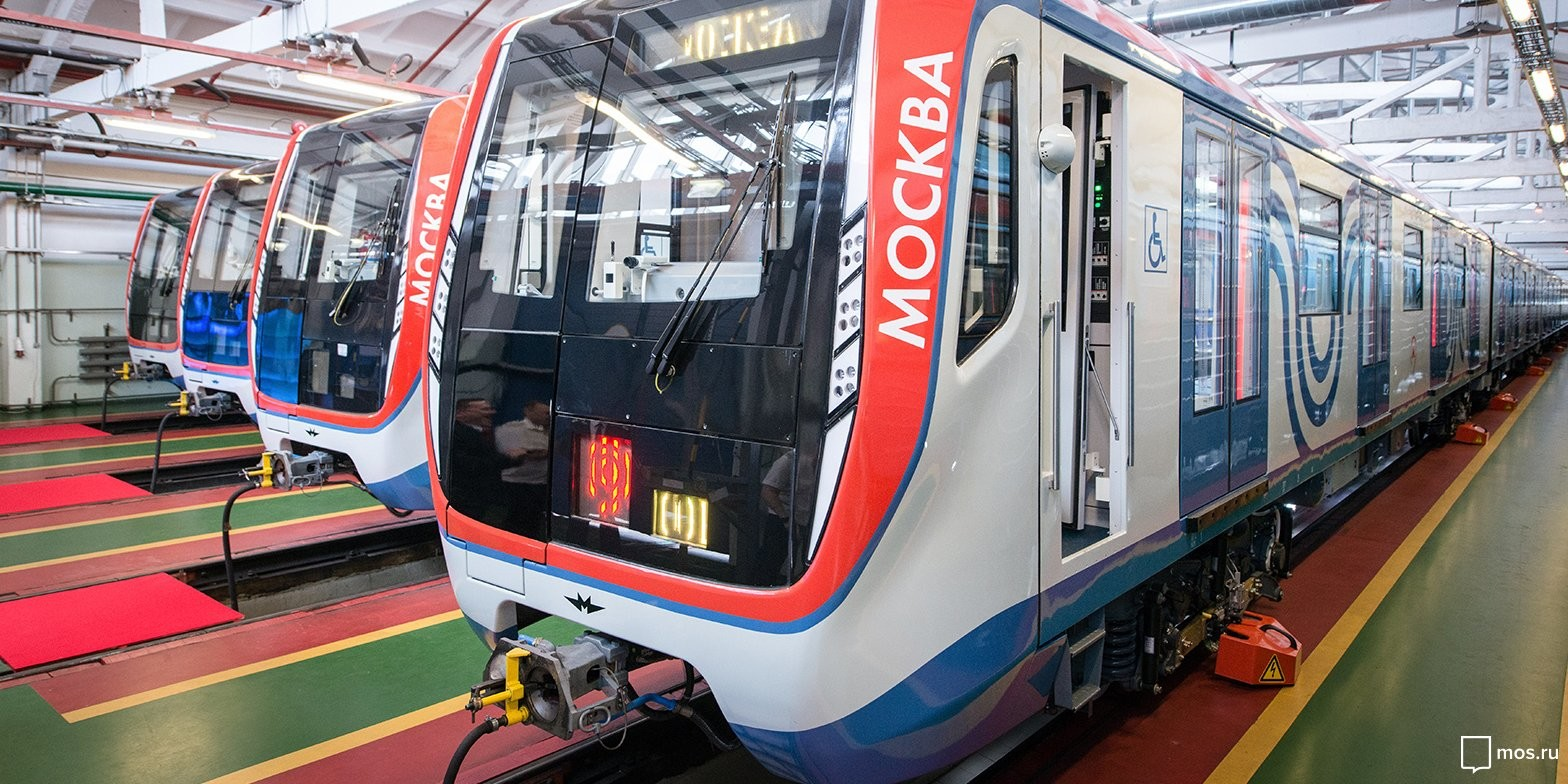 Встоличном метро запустили 70-й поезд «Москва»