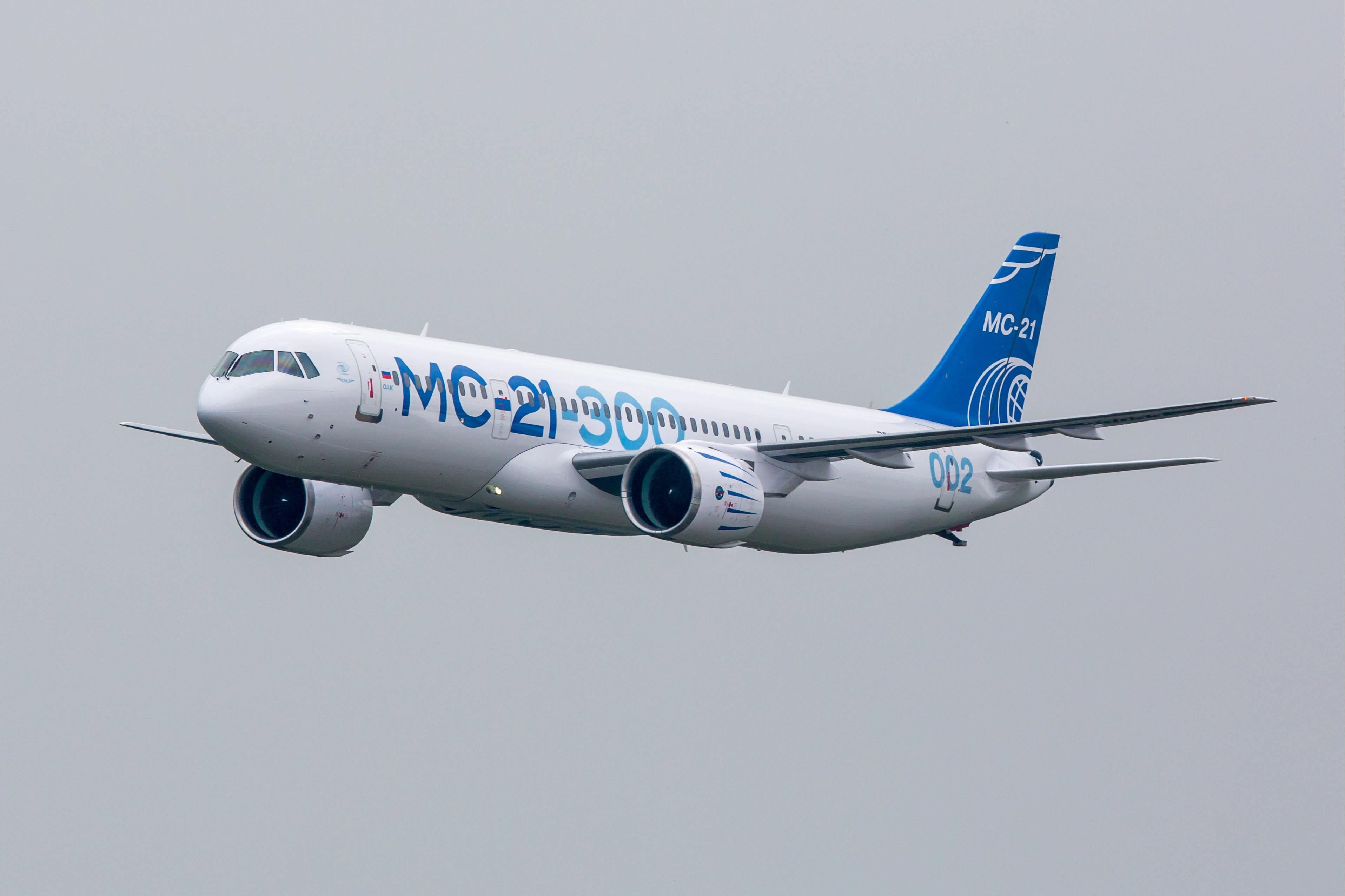 Самолет МС-21 совершил перелет из Иркутска в Ульяновск