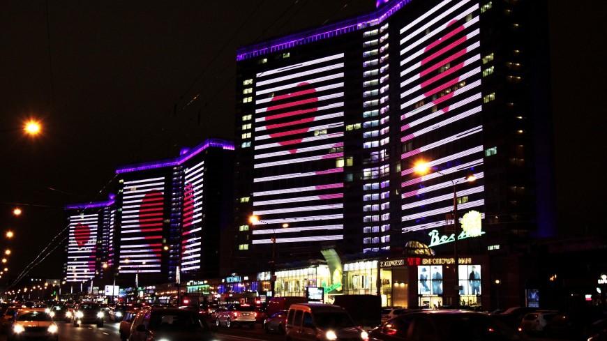 Огромные светящиеся сердца украсят Москву