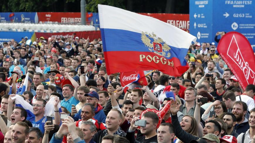 В фан-зонах жарко: за первым матчем ЧМ в Москве следят тысячи болельщиков