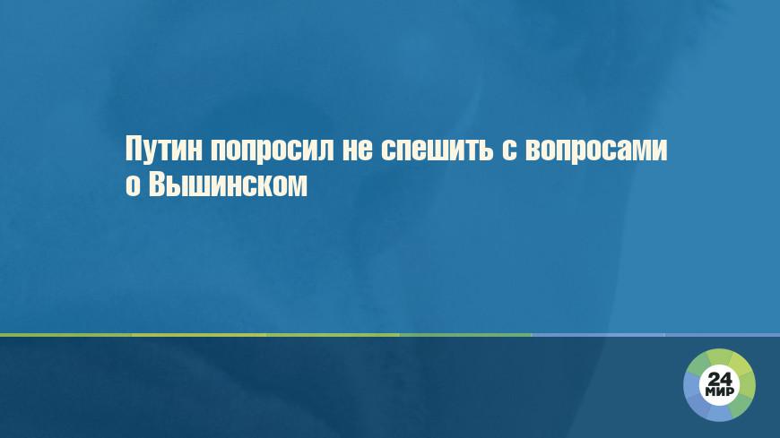 Путин попросил не спешить с вопросами о Вышинском