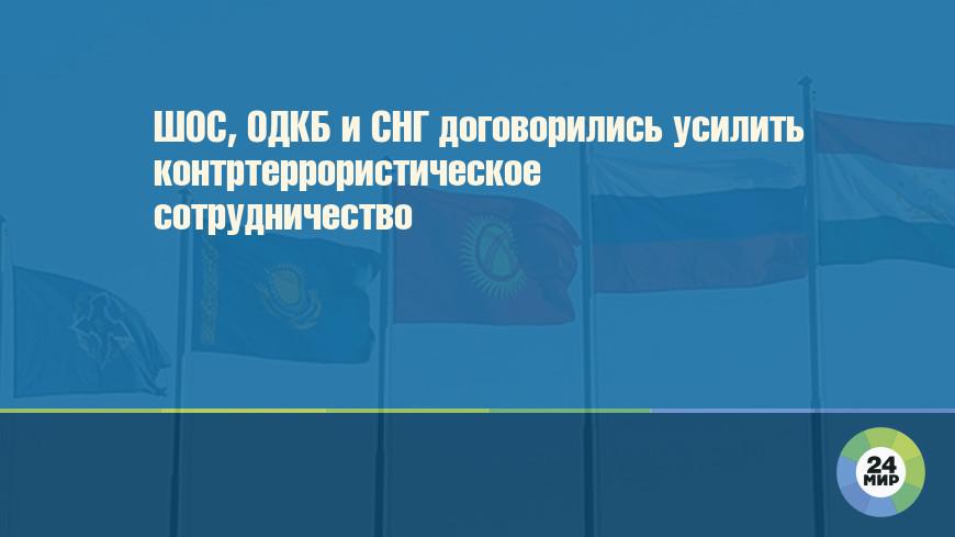 ШОС, ОДКБ и СНГ договорились усилить контртеррористическое сотрудничество