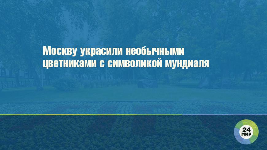Москву украсили необычными цветниками с символикой мундиаля