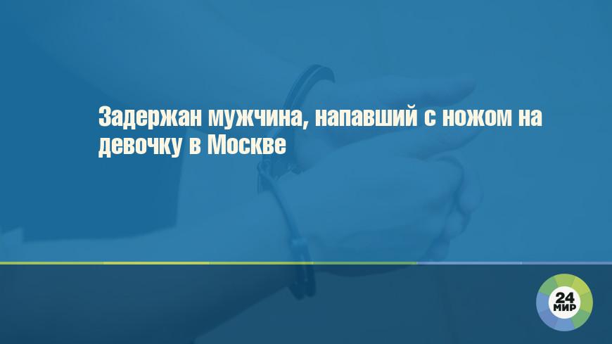 Задержан мужчина, напавший с ножом на девочку в Москве