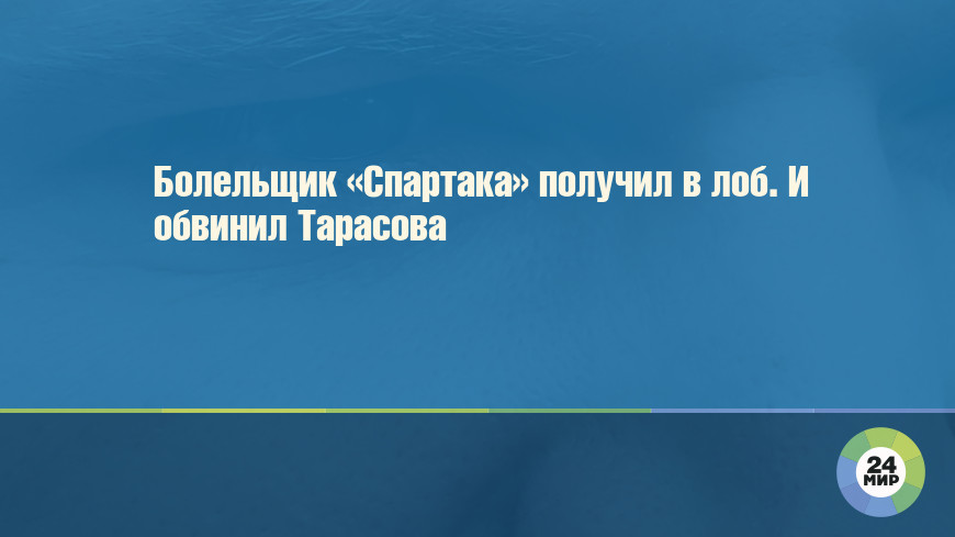 Болельщик «Спартака» получил в лоб. И обвинил Тарасова