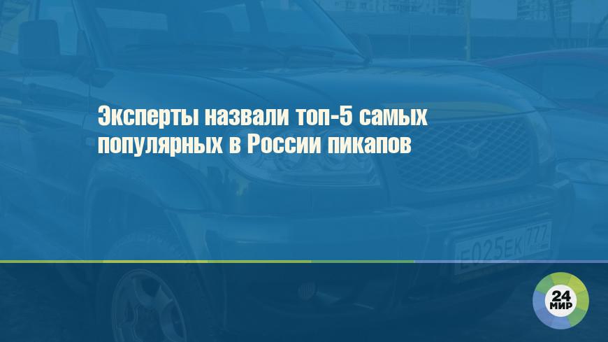 Эксперты назвали топ-5 самых популярных в России пикапов