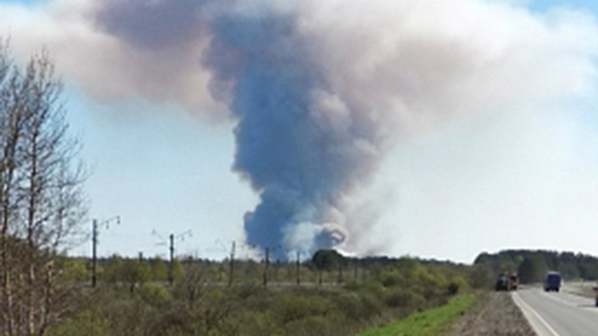 Открытое горение на военном полигоне в Удмуртии ликвидировано