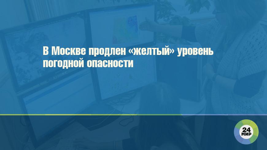 В Москве продлен «желтый» уровень погодной опасности