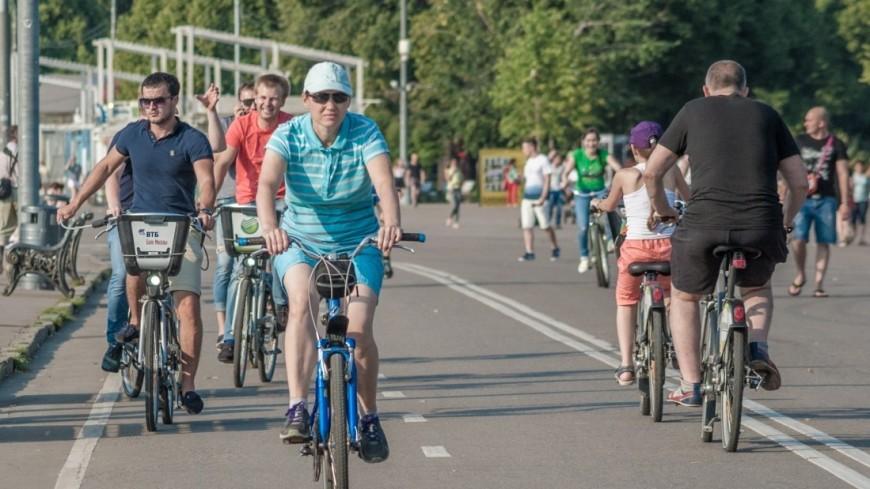 Заезд по «Садовому»: москвичи сели на велосипеды